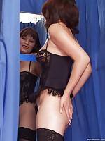 Asian girlfriend in sexy lingerie
