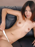 Teen shows her tight asian pussy
