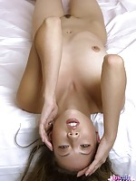Asian beauty spreads her wet pussy for you
