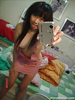 Selfmade pics of hot Asian naked